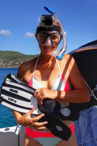 Ausgerüstet mit Schnorchel und Gopro geht es zum Riff