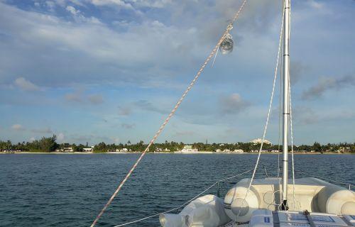 """Eine Nacht im West Bay von New Providence.Hier wurde """"Flipper"""" gedreht und """"Der weiße Hai"""""""