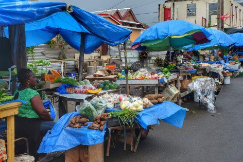 Samstags ist Markt in Portsmouth - trotz wiederholten Regenschauern füllen wir unsere Obst- und Gemüsevorräte