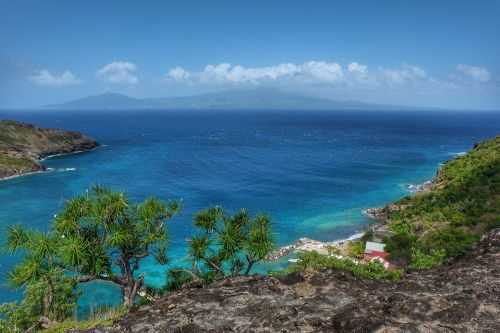Baie de Marigot, am Horizont Guadeloupe