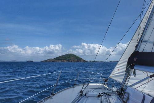 Petit Nevis in Sicht