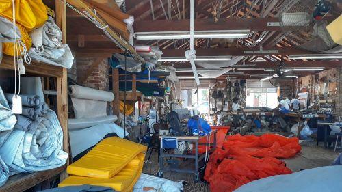 Die Werkstatt des Segelmachers in English Harbour